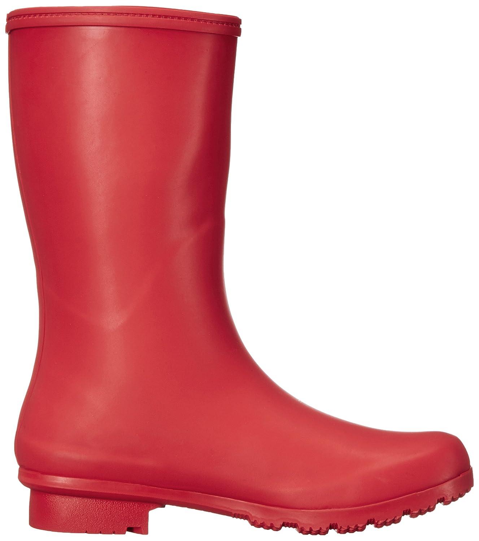 Roma Boots Women's EMMA Mid Rain Boots B01L2WNLL4 11 B(M) US|Matte Red