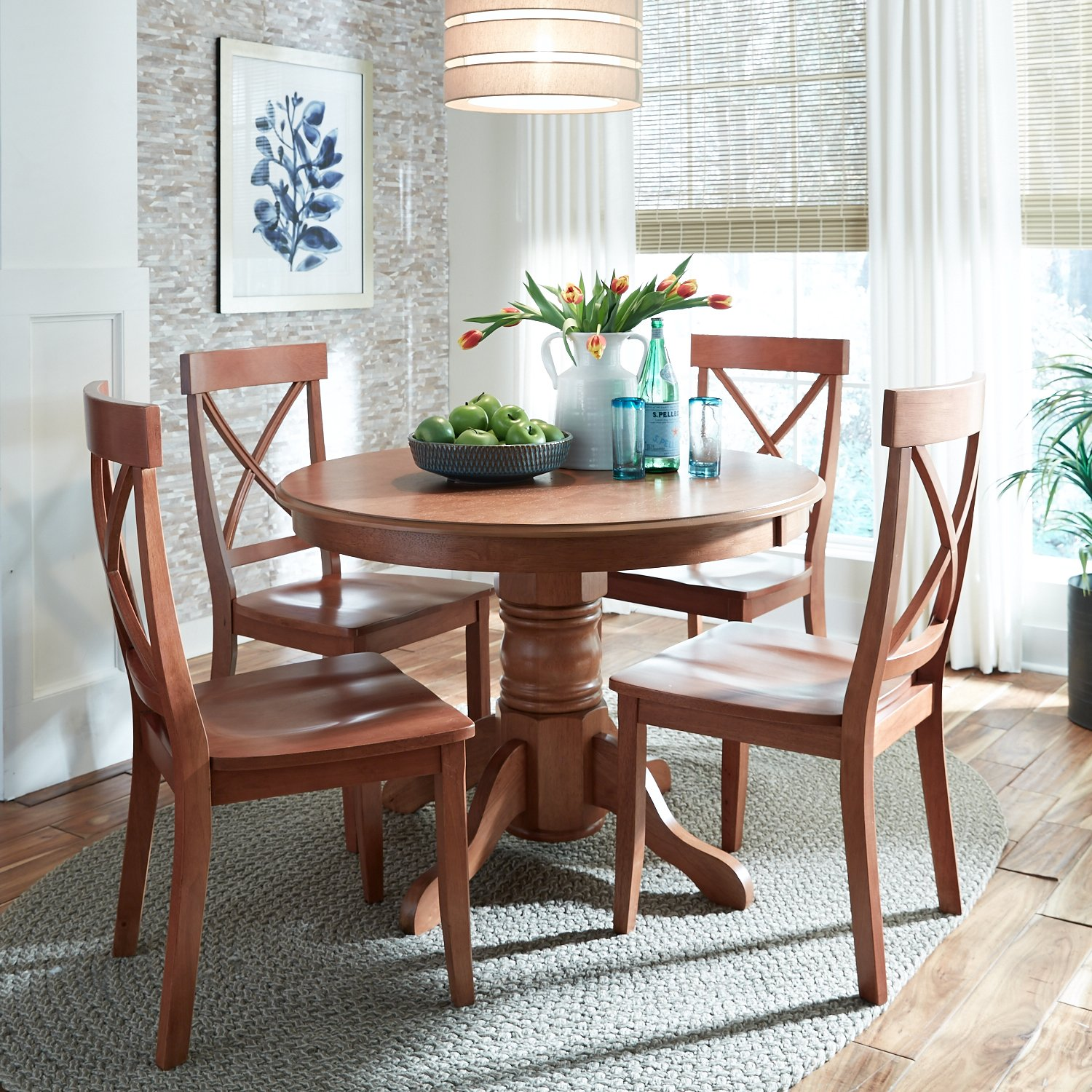 home styles 5179 30 round dining table with pedestal