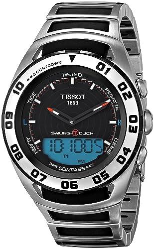 Tissot Reloj Analógico-Digital para Hombre de Cuarzo con Correa en Acero Inoxidable T056.420.21.051.00: Amazon.es: Relojes
