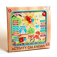 IL MIO PRIMO in legno CALENDARIO OROLOGIO BAMBINI IMPARARE giocattolo educativo da parete Calendario