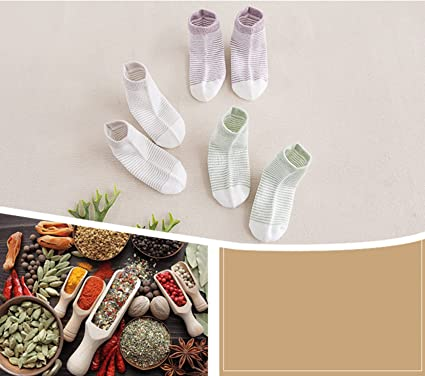 Lalalucky Natural Plant Dyeing Baby Basic Socks 3 Pack