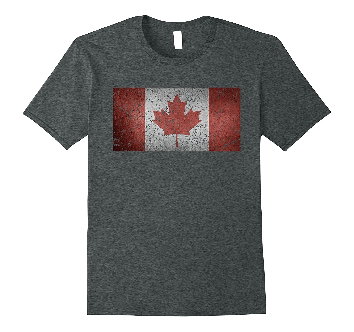 Vintage Distressed Rugged Flag Of Canada Patriotic T-shirt-CD