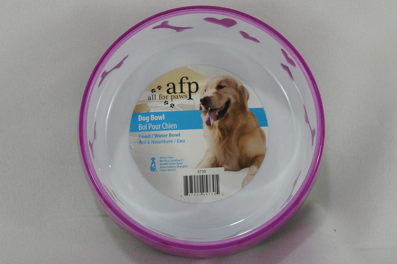 ALL FOR PAWS Comedero Pl/ástico Dog Love M-300 ml Color Naranja