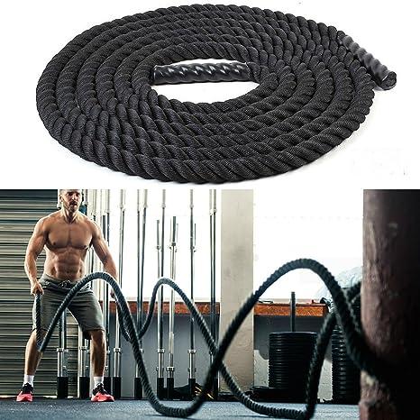 9M 38mm Battle Rope Battling Sport Power Ropes Gym Exercise Fitness Training ME