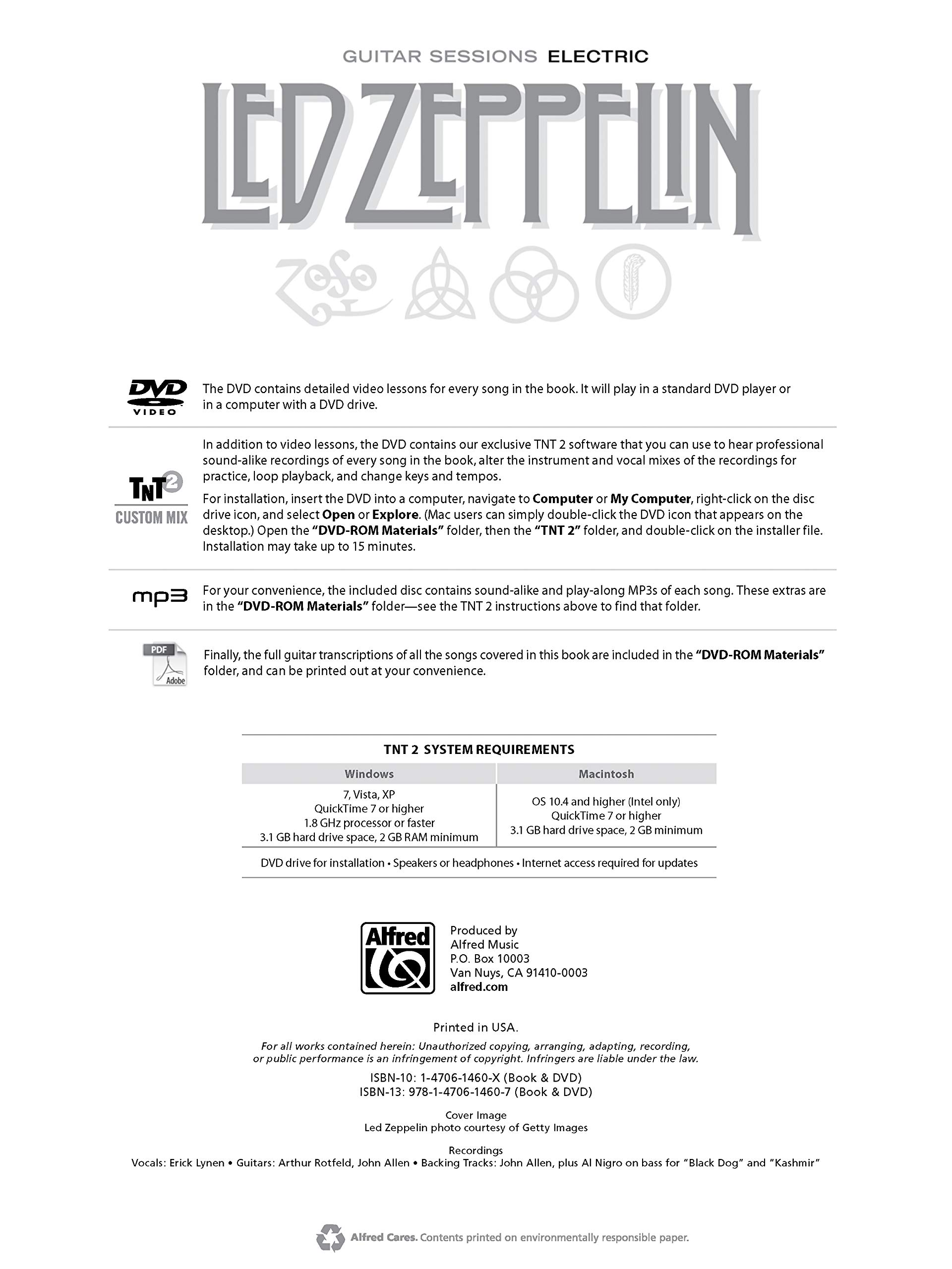 Led Zeppelin -- Electric Sessions: Guitar Tab, Book & DVD Guitar ...