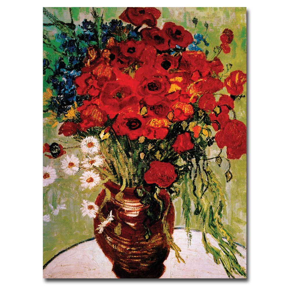 Amazon Daisies And Poppies By Vincent Van Gogh 24x32 Inch