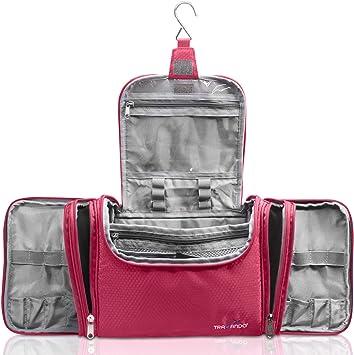 TRAVANDO neceser mujer bolsa de aseo grande para colgar neceser de viaje compartimentos ,cosméticos,