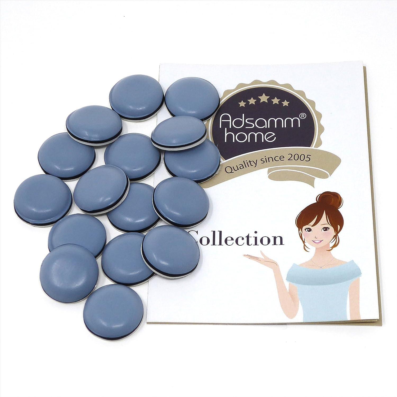 redondas /Ø 70 mm Patas de muebles adhesiva de la m/áxima calidad de Adsamm/® 4 x Protector de PTFE gris