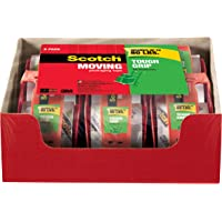 6-Pack Scotch Tough Grip Moving Packing Tape