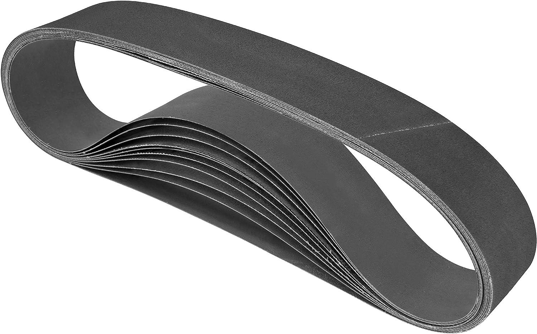 BUCKTOOL 2x42 Sanding Belts Belt Sander Sanding Belts 120 Grit 3 Pack