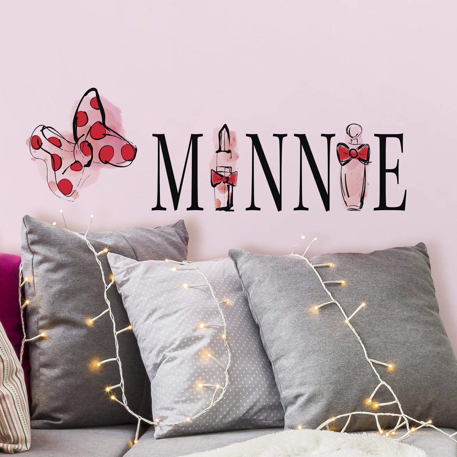 RoomMates Minnie Mouse Perfume Peel And Stick Wall Decals