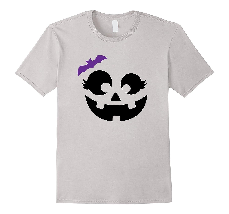 Halloween Pumpkin Shirt   Cute Girl's Costume Tee Gift Idea-T-Shirt