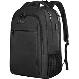 #19 Business Travel Backpack, Matein Laptop Backpack with USB Charging Port for Men Womens Boys Girls