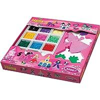 Hama - Caja Rosa 6000 Perlas + 5 Plantillas