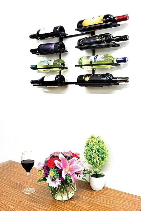 Amazoncom Superiore Livello Verona 8 Bottle Wall Mounted Wine Rack