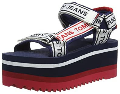 14f857067648c Tommy Jeans Hilfiger Denim Women s Technical Sandal Platform