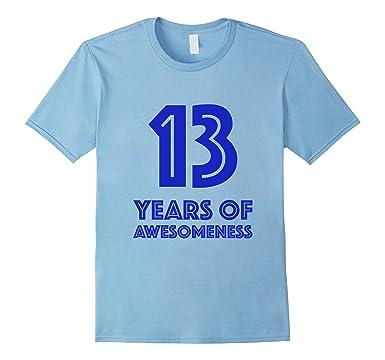Mens 13th Birthday Shirt Gift Boys Age 13 Thirteen Year Old Boy T 2XL Baby Blue