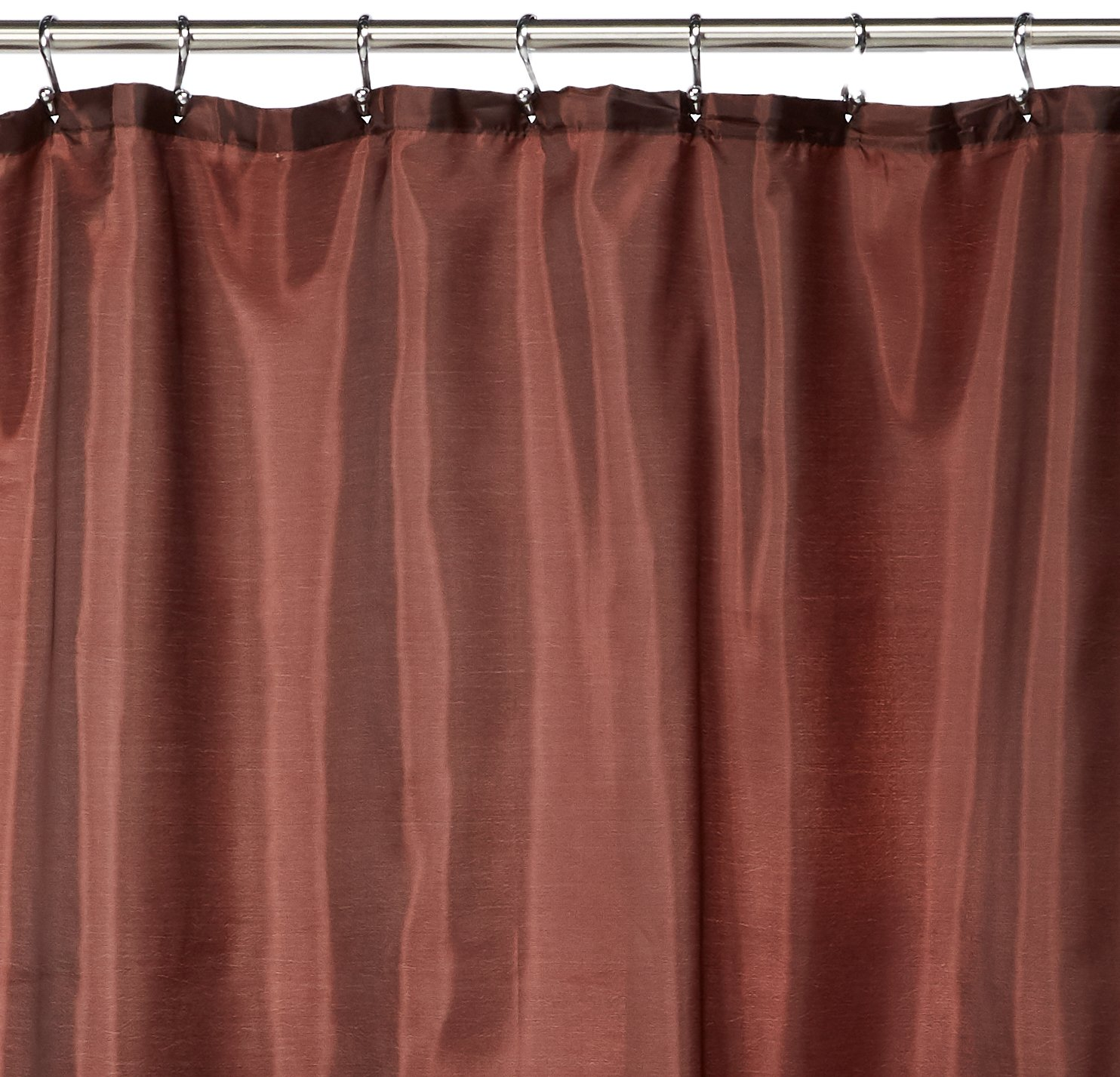 Carnation Home Fashions Fabric Shower Curtain Liner, 70-Inch by 72-Inch, Brown Inc. SC-FAB/13