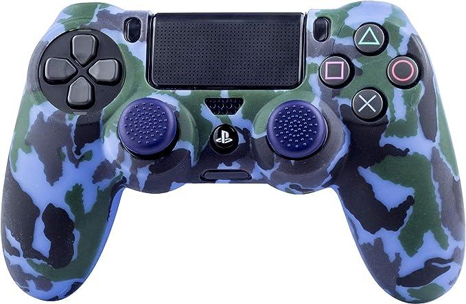 FR- TEC - Protector Silicona + Grips Camo Navy, para mando Dualshock de PlayStation 4: Amazon.es: Videojuegos