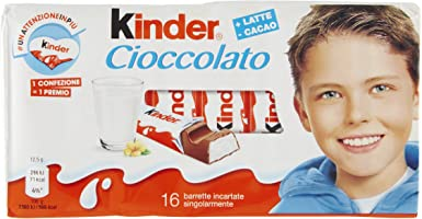 Kinder Tableta Chocolate con leche Caja 200 [Pack de 5]: Amazon.es: Alimentación y bebidas
