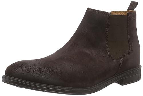 128d96ffc08 Clarks Chilver Top - Botines Chelsea de Cuero Hombre  Amazon.es  Zapatos y  complementos