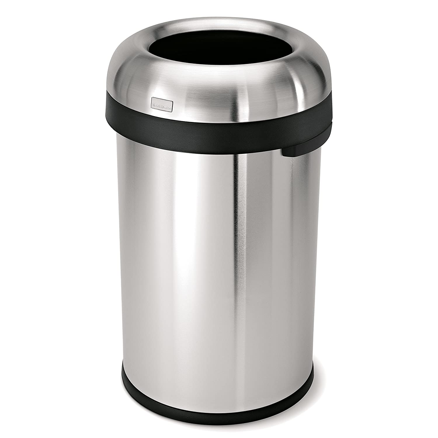 simplehuman bullet open trash can mercial grade