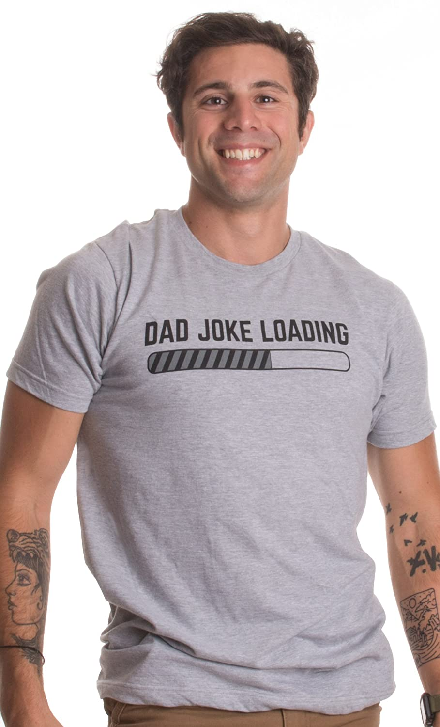 3b832bcb Amazon.com: Dad Joke Loading | Funny Father Grandpa Daddy Father's Day Bad  Pun Humor T-Shirt: Clothing