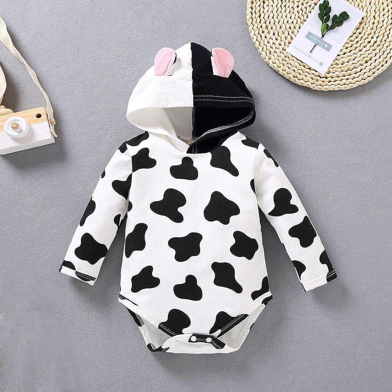 Kids Baby Girls Boy Hoodie Romper Infant Long Sleeve Bodysuit Jumpsuit Outfits