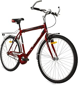 "SPARTAN 26"" Challenger Single Speed Mountain Bicycle MTB - Red"