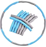 EVER RICH ® FitnessWave Weighted Fitness Exercise Hula Hoop (Blue - Grey)