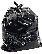 "Aluf Plastics RL-3858XH T-Tough Roll Pack Low Density Repro Blend Star Seal Coreless Rolls Bag, 55-60 Gallon Capacity, 58"" Length x 38"" Width, XH Strength, Black (Pack of 100)"