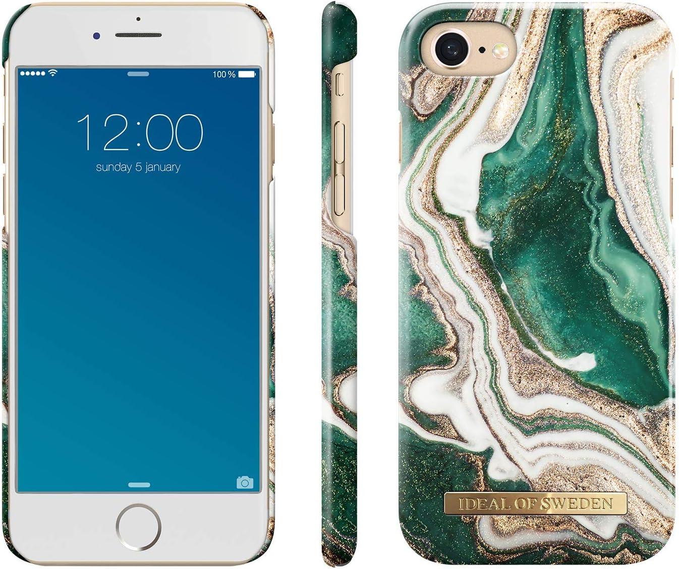 iDeal Of Sweden Coque pour iPhone 8/iPhone 7/iPhone 6/iPhone 6s (doublure en microfibre, chargeur sans fil Qi compatible)