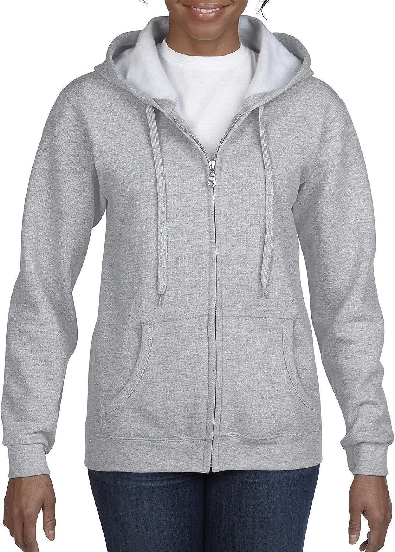 GILDAN Womens Full Zip Hooded Sweatshirt Hooded Sweatshirt