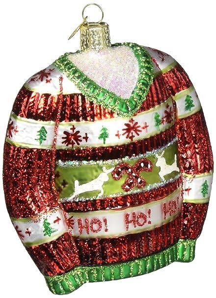 old world christmas ornaments festive christmas sweater glass blown ornaments for christmas tree - Amazon Christmas Ornaments