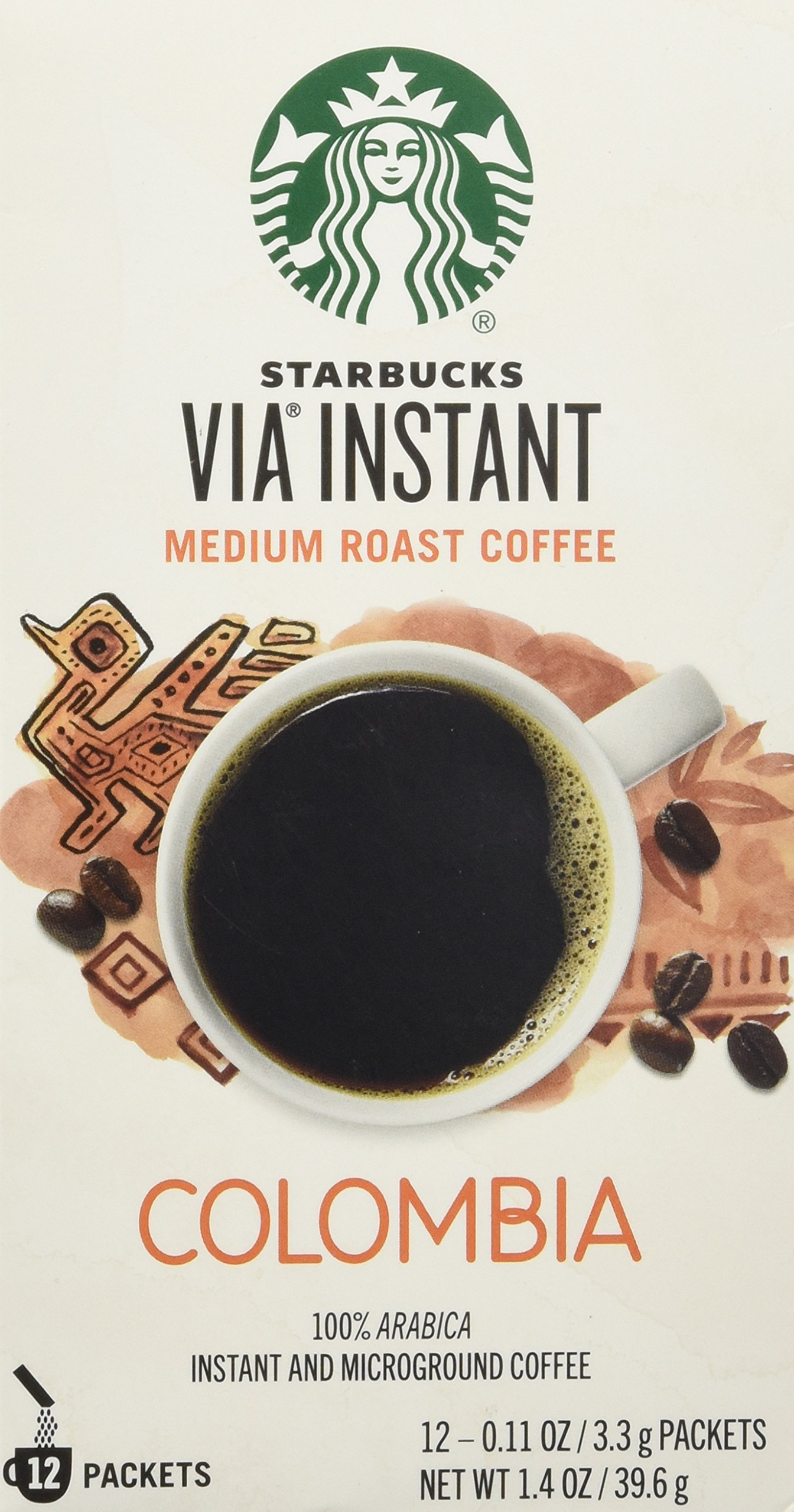 Starbucks VIA® Colombia Coffee, Medium Instant, 1.4 Ounce