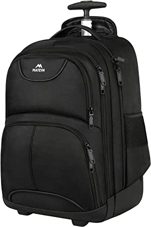 Matein Waterproof College Wheeled Travel Backpack