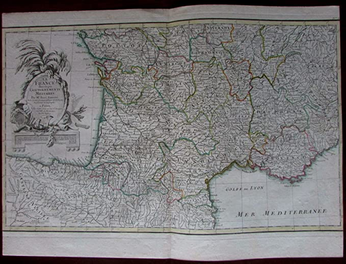 Map Of Southern France And Spain.Amazon Com Southern France Gulf Lyon Provence Spain C 1760 Rizzi