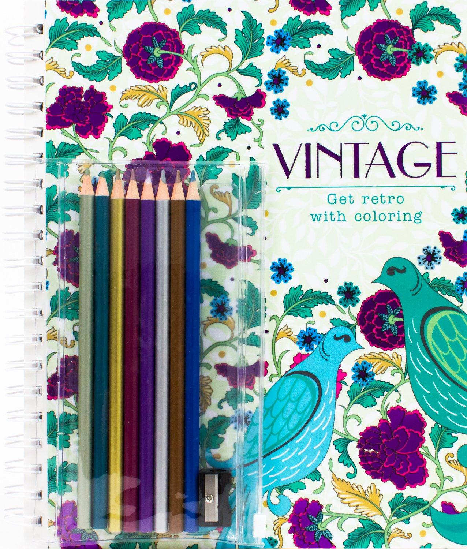Amazon.com: Vintage: Get Retro with Coloring (with Pencils ...
