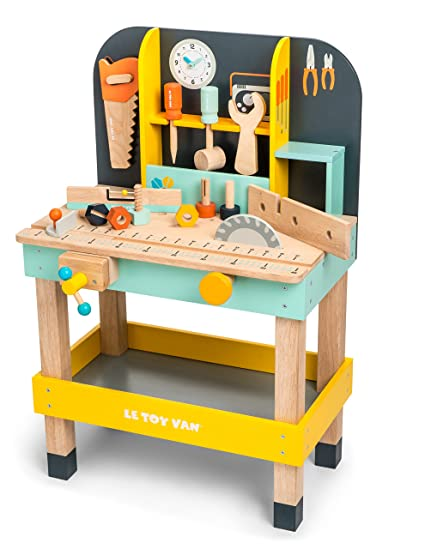 Phenomenal Amazon Com Le Toy Van Alexs Work Bench Premium Wooden Toys Theyellowbook Wood Chair Design Ideas Theyellowbookinfo