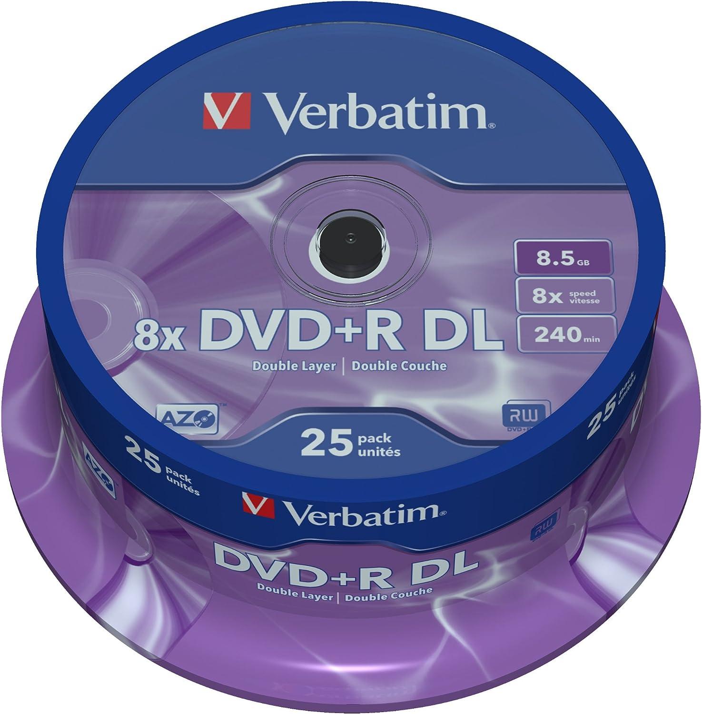Verbatim Dvd R Double Layer Matt Silver 8 5gb I 25er Computer Zubehör