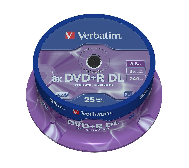 Verbatim 43757 DVD+R 8x DL Matt Silver 25 pack: Amazon.co.uk ... on