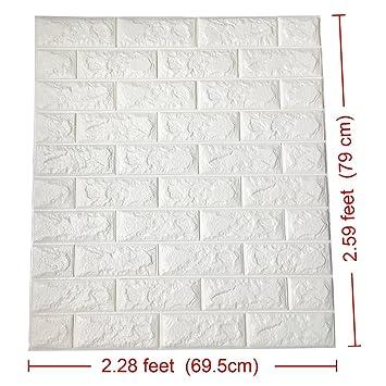 Amazoncom 30pcs 3d Brick Wall Stickers Pe Foam Self Adhesive