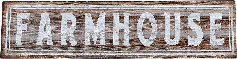 Barnyard Designs Farmhouse Retro Vintage Tin Bar Sign Country Home Decor 15.75 x 4