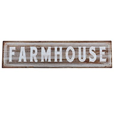Barnyard Designs Farmhouse Retro Vintage Tin Bar Sign Country Home Decor 15.75  x 4