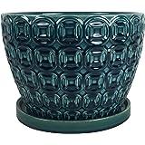 "Southern Patio CRM-047117 Mayer Ceramic Planter, 12"", Seafoam Green"