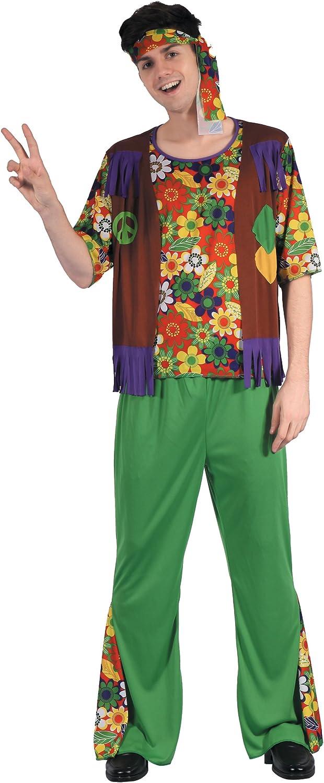 Generique - Disfraz Hippie Flower Power Hombre L: Amazon.es ...