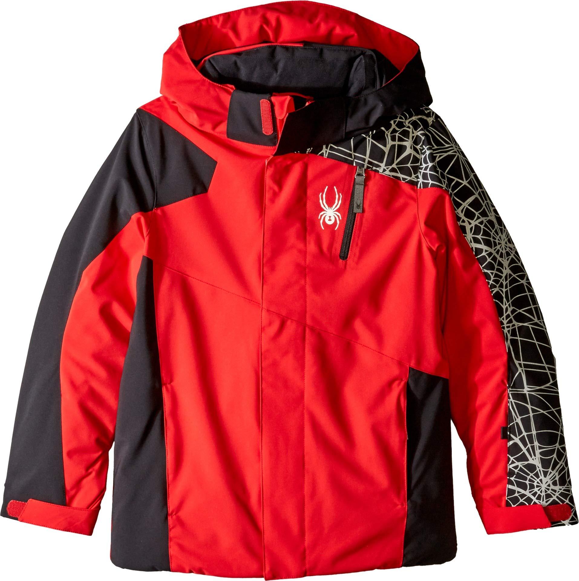 Spyder Boys' Guard Ski Jacket, Red/Black, Size 14