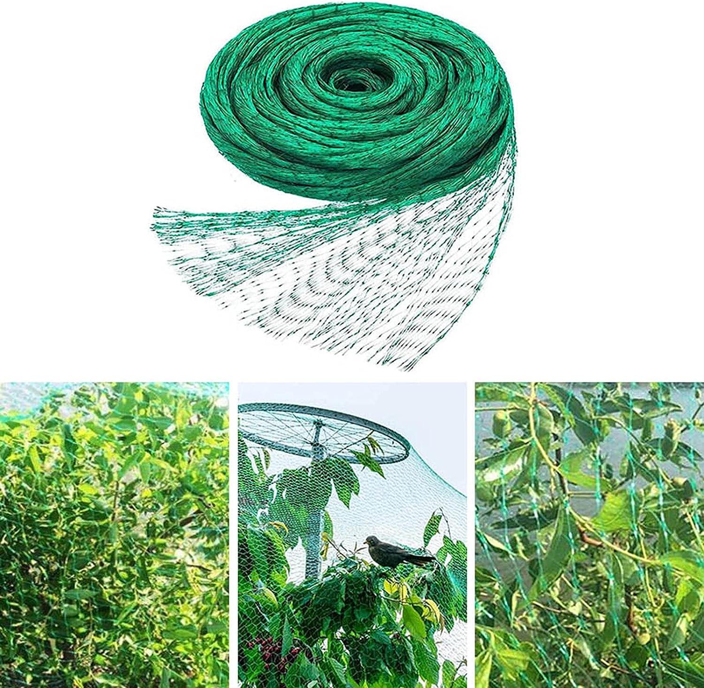 Bird Netting for Garden, Protect Vegetable Plants and Fruit Trees, Plastic Trellis Netting, Green Anti Bird Protection Net Mesh, Garden Plant Netting, Protect Seedlings Plants Flowers (13x32.8ft)