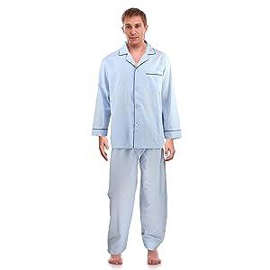 RK Classical Sleepwear Men's 100% Cotton Flannel Pajama Set