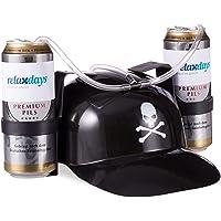 Relaxdays Gorra Cerveza Pirata para Dos Latas, color